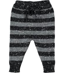 Mini Sibling Knit Trousers STRIPES Mini Sibling Knit Trousers STRIPES grey and black melange