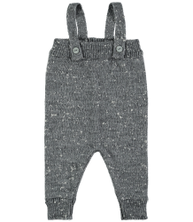 Mini Sibling Knit Romper w/Suspenders Mini Sibling Knit Romper w/Suspenders grey melange