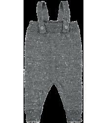 Mini Sibling Knit Romper w/Suspenders Mini Sibling Knit Romper w/Suspenders grey melange