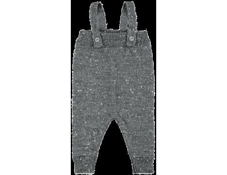 Mini Sibling Knit Romper w/Suspenders
