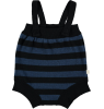 Mini Sibling Knit Body w/Suspenders STRIPES Mini Sibling Knit Short Romper w/Suspenders stripes