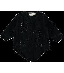 Mini Sibling Knit Body Suit AJOUR Mini Sibling Knit Body Suit VINTAGE black