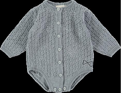 Mini Sibling Knit Body Suit AJOUR