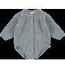 Mini Sibling Knit Body Suit AJOUR Mini Sibling Knit Body Suit VINTAGE grey melange