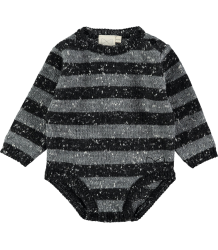 Mini Sibling Knit Body Suit STRIPES Mini Sibling Knit Body Suit STRIPES black grey