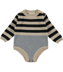 Mini Sibling Knit Body Suit STRIPES Mini Sibling Knit Body Suit STRIPES black grey