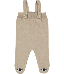 Mini Sibling Knit Romper with Feet Mini Sibling Knit Romper with Feet oatmeal