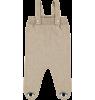 Mini Sibling Knit Romper with Feet Mini Sibling Knit Romper with Feet oatmeal