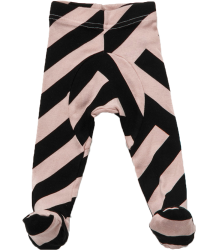 Nununu STRIPED Footed Leggings Nununu STRIPED Footed Leggings pink