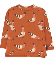 Tiny Cottons LS Relaxed Tee PIGEONS Tiny Cottons LS Relaxed Tee PIGEONS