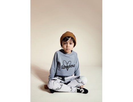 Little Man Happy DANGEROUS HEART Basic Sweater