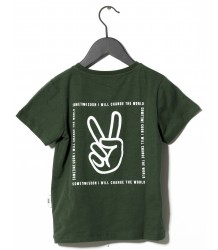 Sometime Soon Carmel S/S T-shirt PEACE Sometime Soon Carmel T-shirt PEACE green