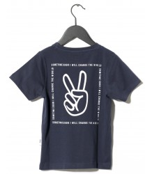 Sometime Soon Carmel S/S T-shirt PEACE Sometime Soon Carmel T-shirt PEACE dark blue