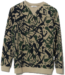 Sometime Soon Anthony  Crewneck CAMO aop Sometime Soon Anthony Crewneck CAMO aop