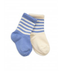 Mini Rodini Stripe Sock 2-pack Mini Rodini Stripe Sock 2-pack blue