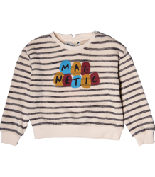 Barn of Monkeys Printed Baby Sweatshirt Stripes MAGNETIC Barn of Monkeys Printed Baby Sweatshirt Stripes MAGNETIC