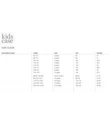 Kidscase Sam Organic T-shirt Kidscase Sizing