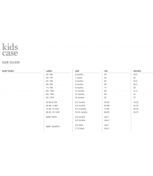 Kidscase Kay Organic Suit Kidscase baby sizings
