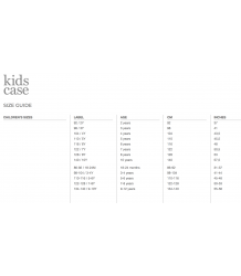 Kidscase Kay Organic Dress Kidscase sizing