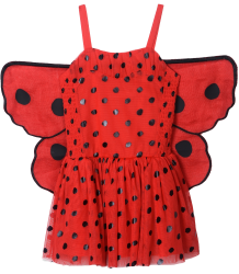 Stella McCartney Kids Bonny Dress Lady Bugs w/Wings Stella McCartney Kids Bonny Dress Lady Bugs w/Wings