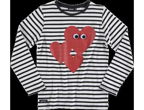 Yporqué HEART EYES Striped Tee