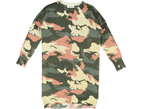 Zadig & Voltaire Kids Harla Knitted Dress CAMOUFLAGE