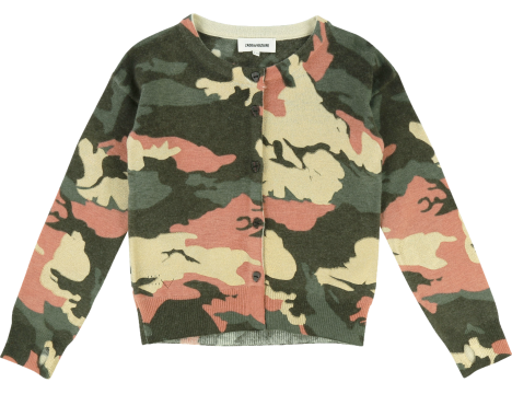 Zadig & Voltaire Kids Rozann Cardigan CAMOUFLAGE