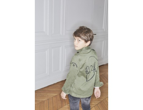 Zadig & Voltaire Kids Kayak Shirt Army SKULL ROCK