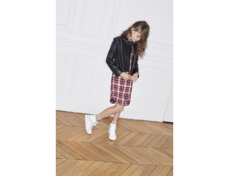 Zadig & Voltaire Kids Romia CHECK Blouse Dress
