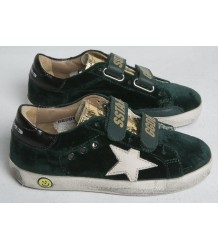 Superstar OLD SCHOOL velvet Golden Goose Superstar OLD SCHOOL green velvet