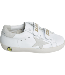 Superstar OLD SCHOOL White & Gold Golden Goose Superstar OLD SCHOOL white gold print