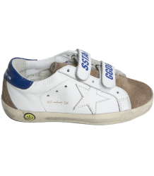 Superstar OLD SCHOOL colourblock Golden Goose Superstar OLD SCHOOL white blue sand