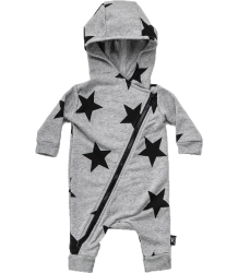 Nununu STAR Hooded Overall Nununu STAR Hooded Overall grey melange