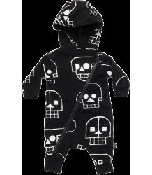 Nununu SKULL ROBOT Hooded Overall Nununu SKULL ROBOT Hooded Overall black