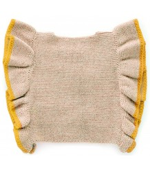 Oeuf NYC RUFFLE Vest Wool Oeuf NYC RUFFLE Vest beige and yellow