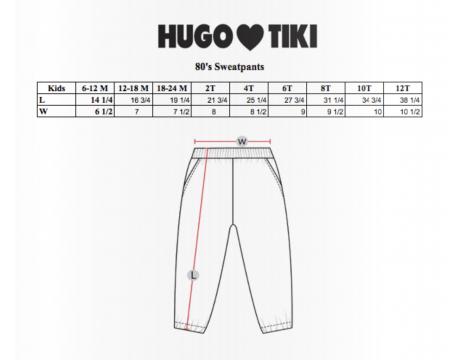 Hugo Loves Tiki 80's Sweat Pants PIZZA SQUAD
