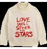 Mini Rodini LOVE Knitted Sweater Mini Rodini LOVE Knitted Sweater off-white