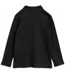 Mini Rodini Solid Rib Turtleneck LS Tee Mini Rodini Solid Rib Turtleneck LS Tee black
