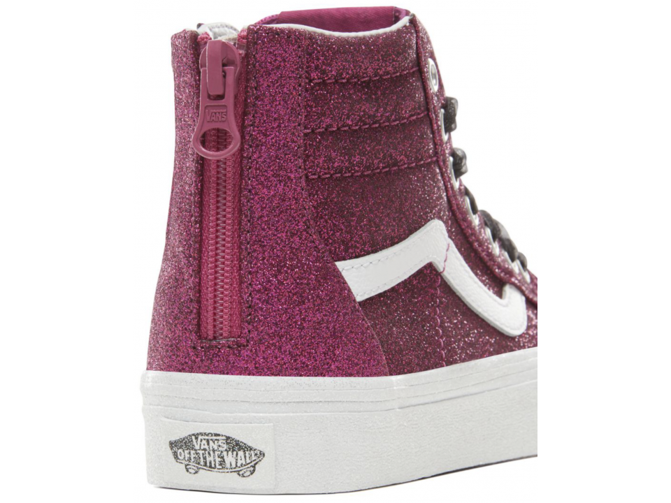 1f12d39a2d VANS SK8-Hi Zip Kids GLITTER - Orange Mayonnaise