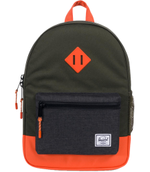 Herschel Heritage Backpack Youth Herschel Heritage Backpack Youth forest night and orange