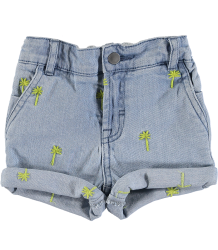 Stella McCartney Kids Baby Denim Shorts PALMS Stella McCartney Kids Baby Denim Shorts PALMS