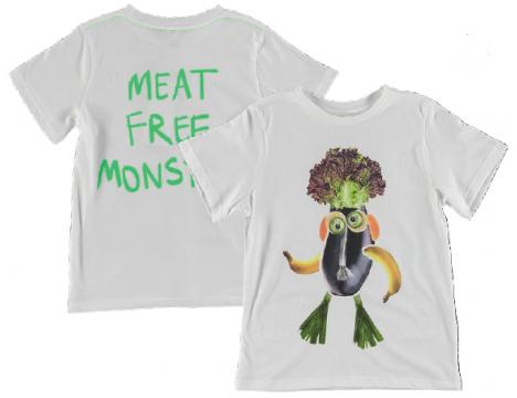 Stella McCartney Kids MEAT FREE MONSTER SS Tee
