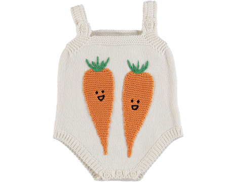 Stella McCartney Kids CARROT Knitted Baby Romper
