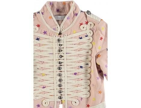 Stella McCartney Kids Will Military Jacket Embroidered STARS