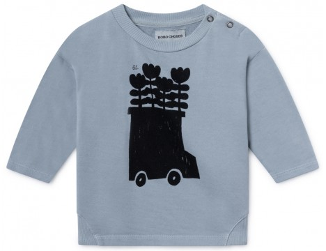 Bobo Choses FLOWERS BUS Baby Sweatshirt