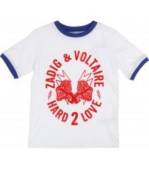 Zadig & Voltaire Kids Tee Shirt Kita HARD 2 LOVE Zadig & Voltaire Kids Tee Shirt Kita HARD 2 LOVE