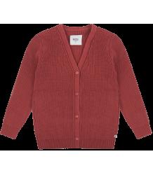 Repose AMS Gebreid V-hals Vest ROZE-BRUIN Repose AMS Knit Cardigan V-neck