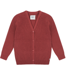 Repose AMS Knitted V-neck Cardigan ROSE-BROWN Repose AMS Knit Cardigan V-neck