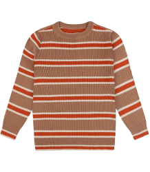 Repose AMS Knit Sweater Stripes CARAMEL Repose AMS Knit Sweater STRIPES