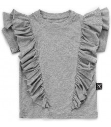Nununu RUFFLED T-shirt Nununu RUFFLED T-shirt grey melange